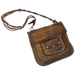 Moroccan Messenger Hand Tooled Leather Bag