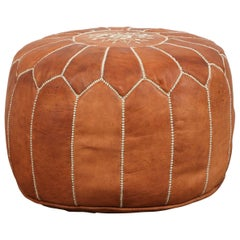 Moroccan Handcrafted Leather Camel Ottoman