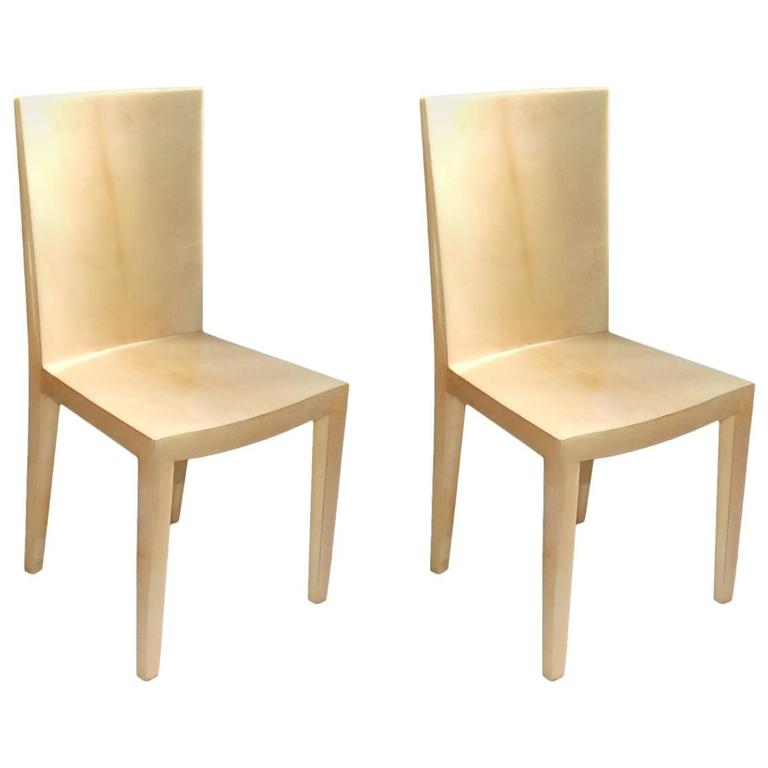 Pair of Parchment Side Chairs