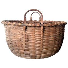 Large Shaker Gathering Basket, circa 1840-1850