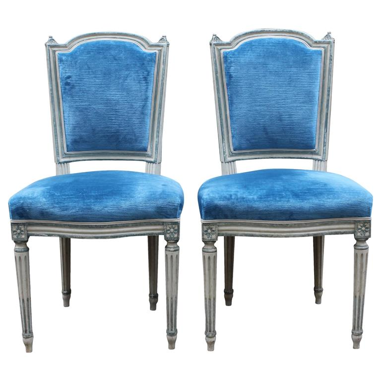 Blue And White Dining Chairs How To Clean