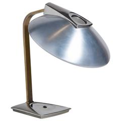 Brass, Chrome and Aluminium Desk Lamp by Laurel, 1960s
