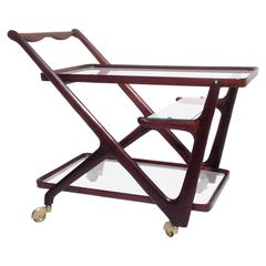 Mid-Century Cesare Lacca Bar Cart for Cassina, Italy