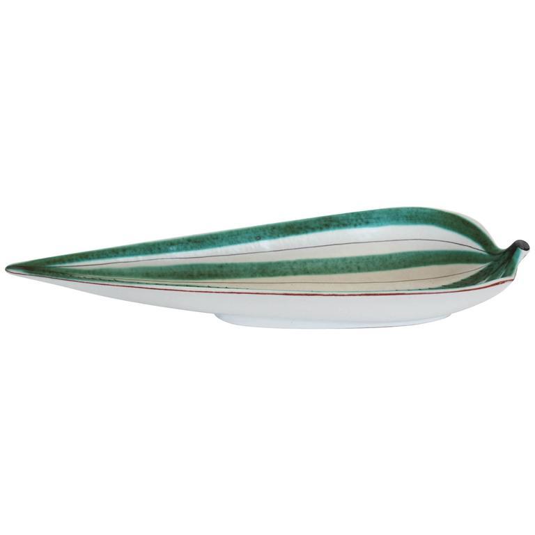 Stig Lindberg Leaf Bowl For Sale