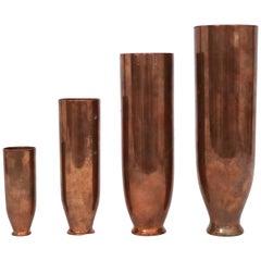 Angelo Molignoni Copper Nesting Vases