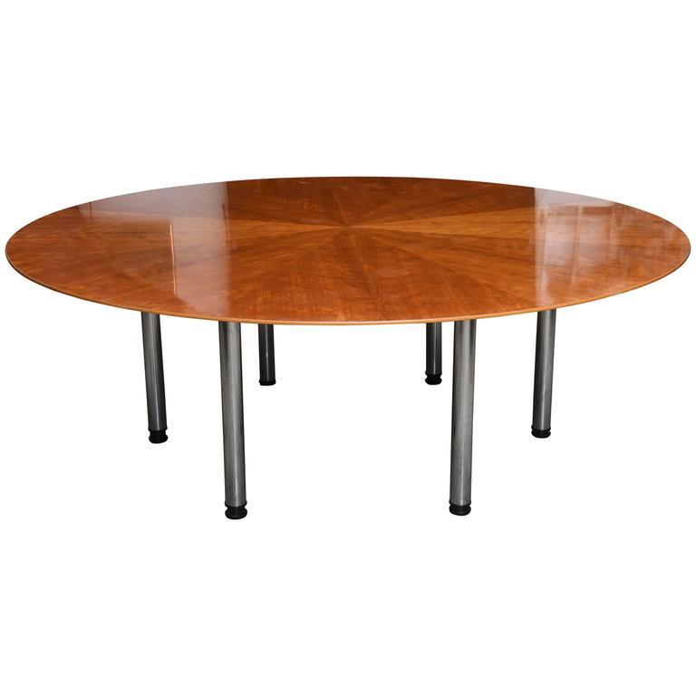 Swedish Circular Large Dining Table Klaus Wettergren  : 3500983l from www.1stdibs.com size 768 x 768 jpeg 21kB
