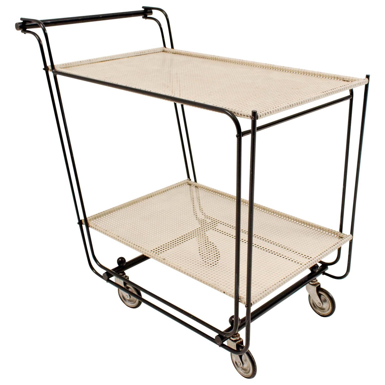 Stylish Mid Century Modern Bar Cart Or Tea Trolley In The