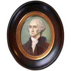 Well Executed Miniature Portrait of George Washington Signed