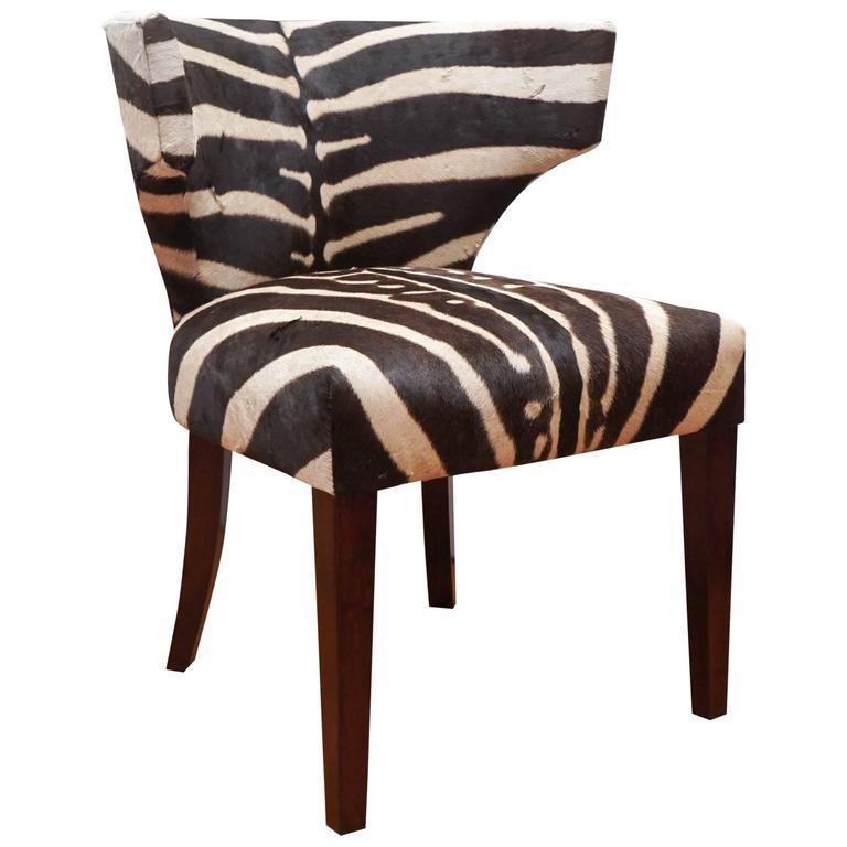 vintage klismos chair with zebra upholstery at 1stdibs. Black Bedroom Furniture Sets. Home Design Ideas