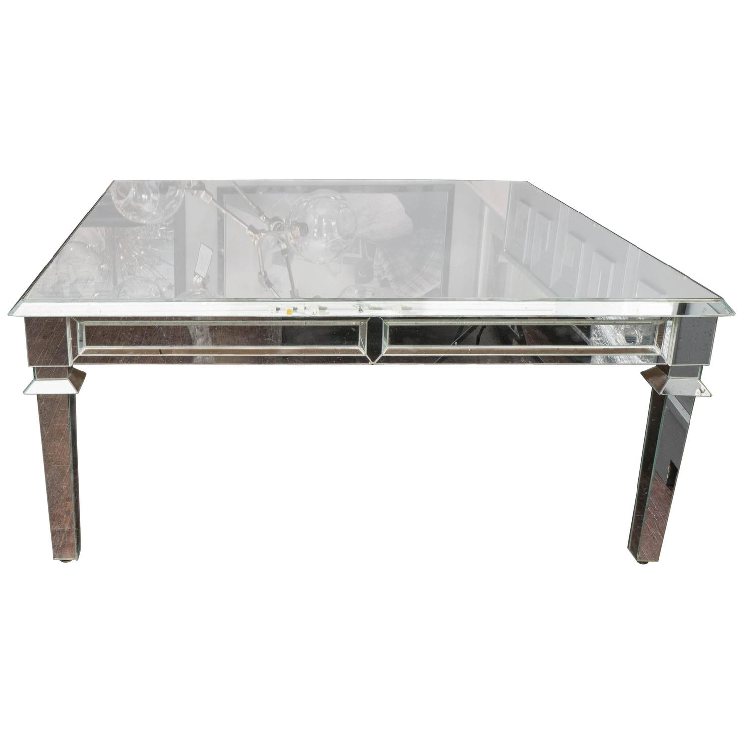Neo Classical Mirrored Coffee Table At 1stdibs