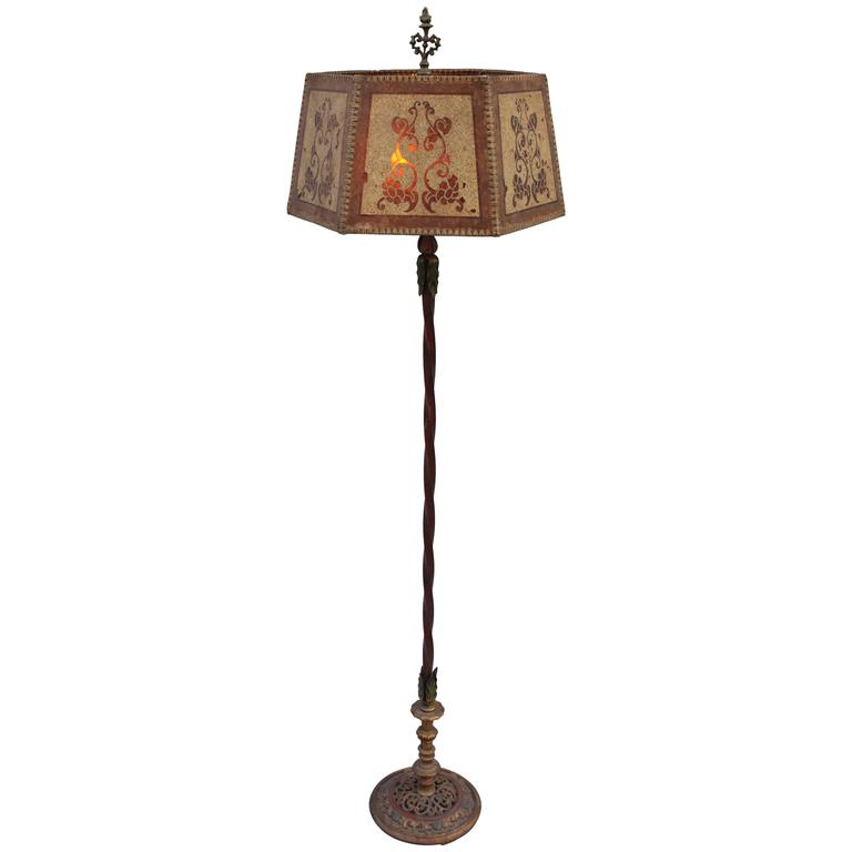 1920s elegant spanish revival floor lamp at 1stdibs - Artistic d lamp shade designed with modern and elegant shape style ...