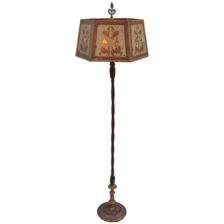 1920s Elegant Spanish Revival Floor Lamp At 1stdibs