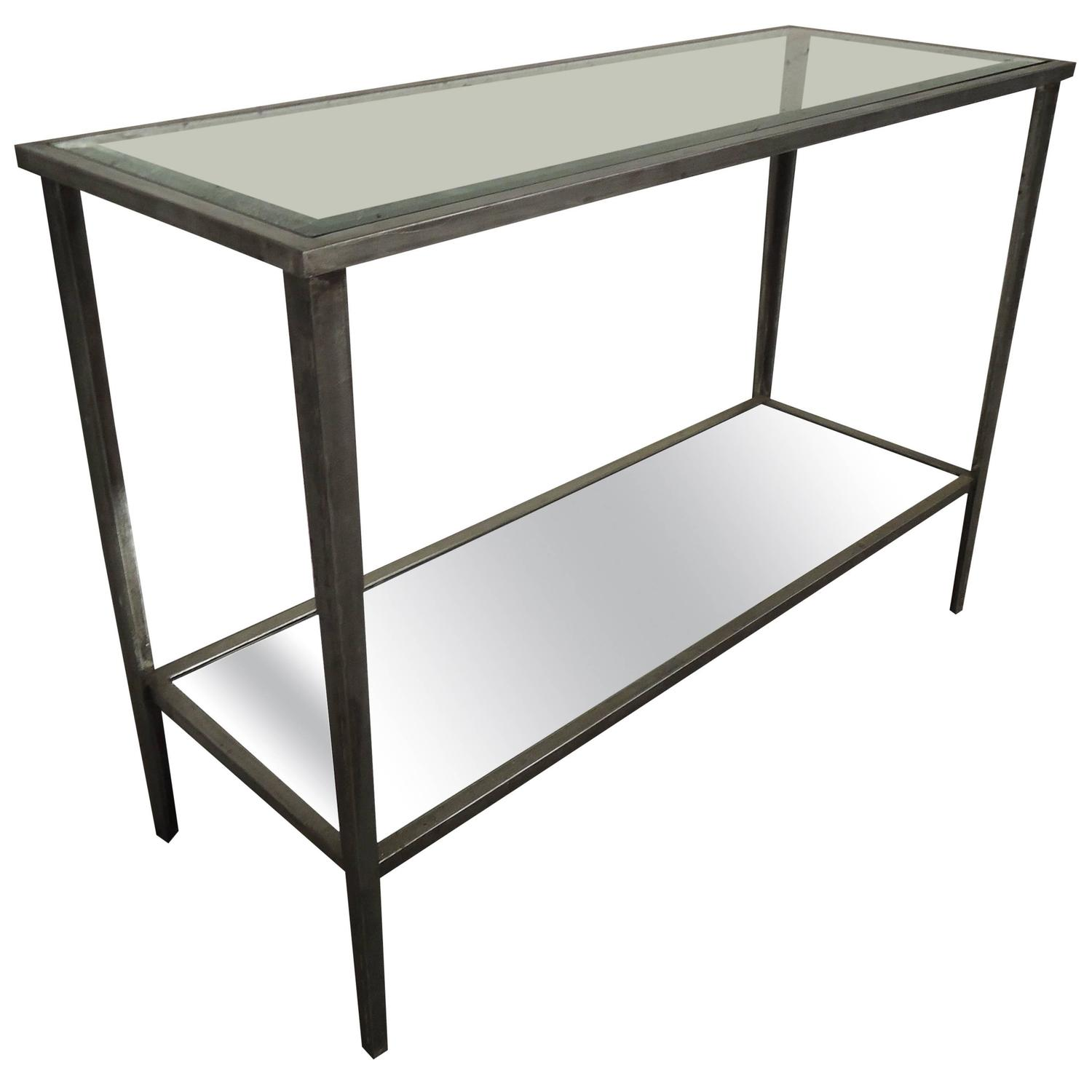 Midcentury Industrial Style Console Table At 1stdibs