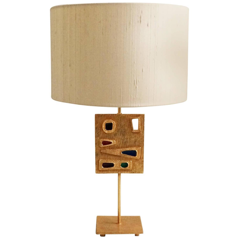 rare fondica bronze table lampe by l boy for sale at 1stdibs. Black Bedroom Furniture Sets. Home Design Ideas