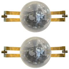 "Pair of ""Space Age"" Sconces"