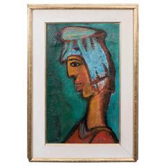Yehoshua Kovarsky Modernist Figure Study, Oil on Canvas, Signed and Framed