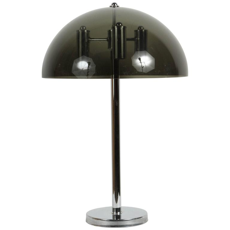 Lucite and Chrome Table Lamp