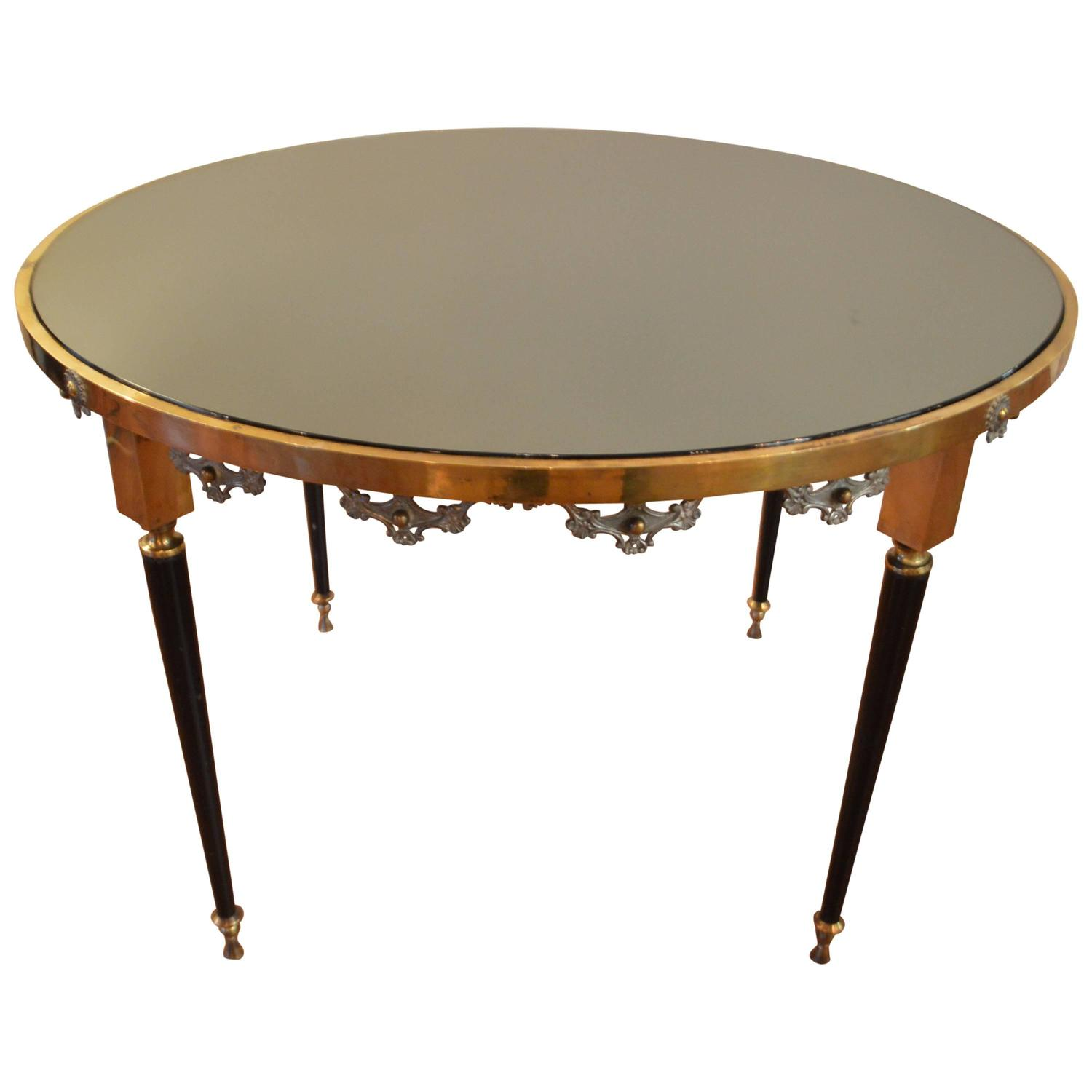 French Modernist Round Cocktail Table At 1stdibs