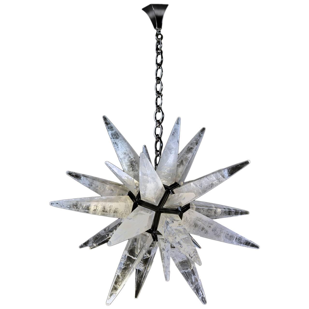 Fantastic Rock Crystal Chandelier By Alexandre Vossion At 1stdibs