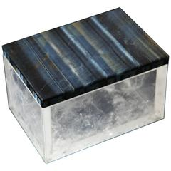 Rock Crystal and Black Agate Lidded Box