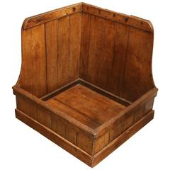 19th Century Pine Dog Bed or Log Storage