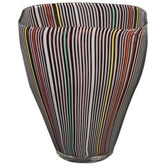 """Vase by James Carpenter for Venini, Murano """"Tessere Spicchi,"""" Signed"""
