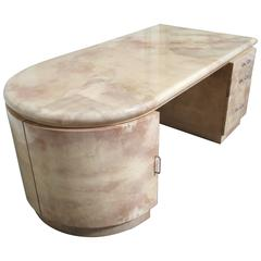 Lacquered Goatskin Desk from a Architect Ed Lohrbach Interior
