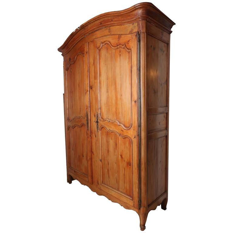 antique louis xv pine armoire with dry bar interior for. Black Bedroom Furniture Sets. Home Design Ideas