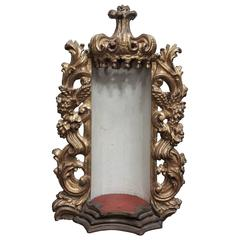 Italian Reliquary Carved  Giltwood