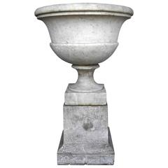 Antique 17th Century Urn and Pedestal from the Amalfi Coast