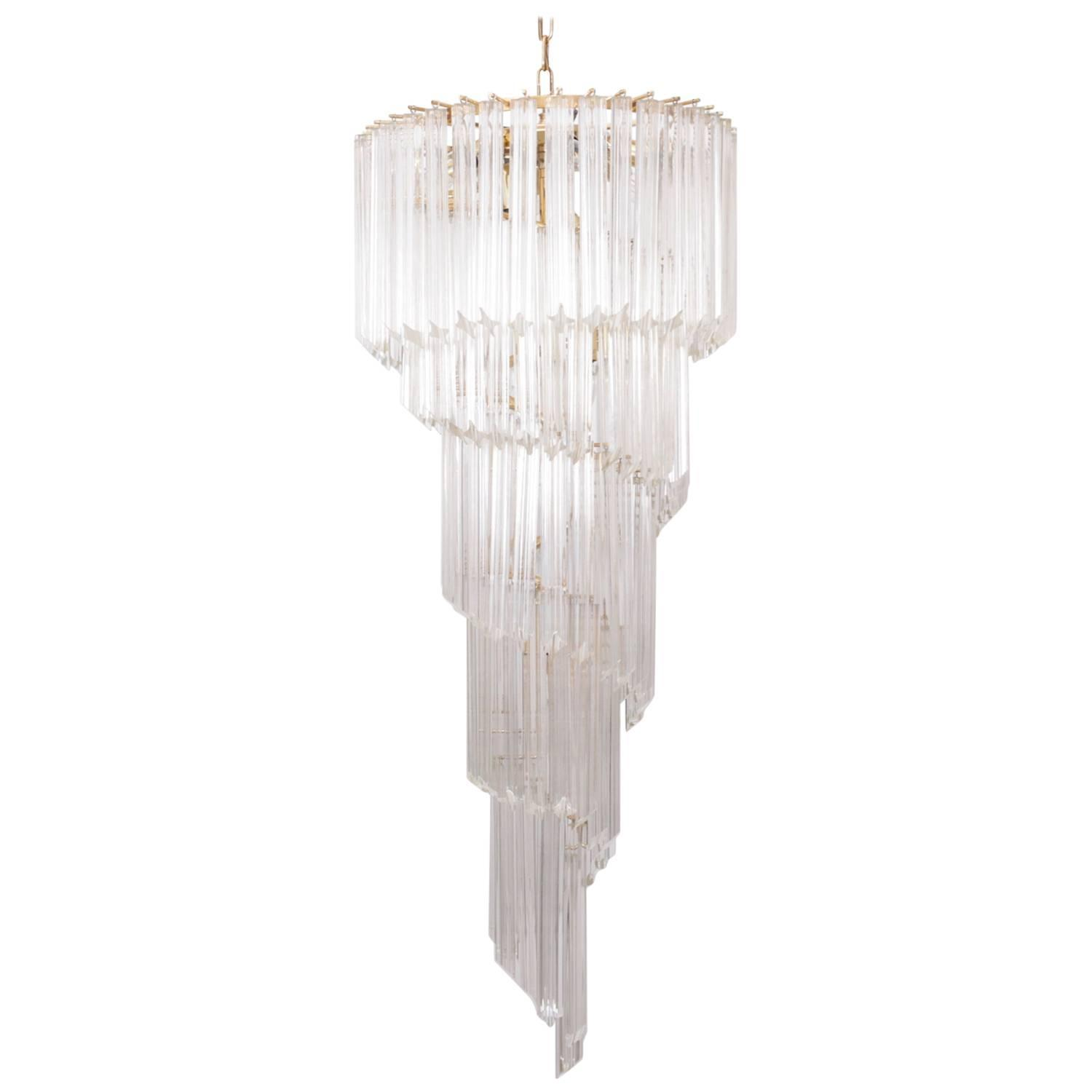 Very huge murano glass spiral chandelier by venini at 1stdibs aloadofball Image collections