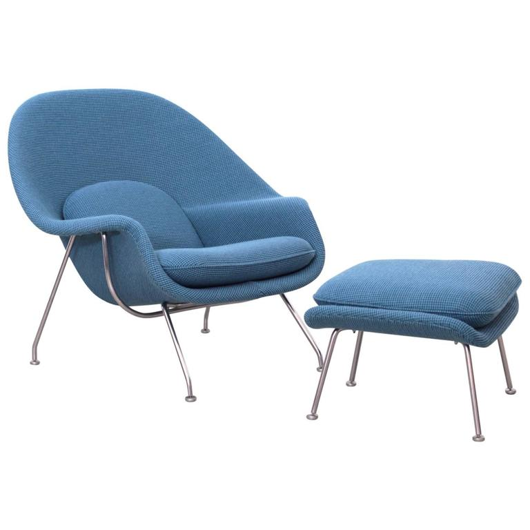 Eero Saarinen Womb Chair by Knoll in new Cato Fabric