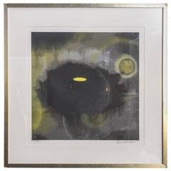 American Abstract Silkscreen on Paper, Ross Bleckner