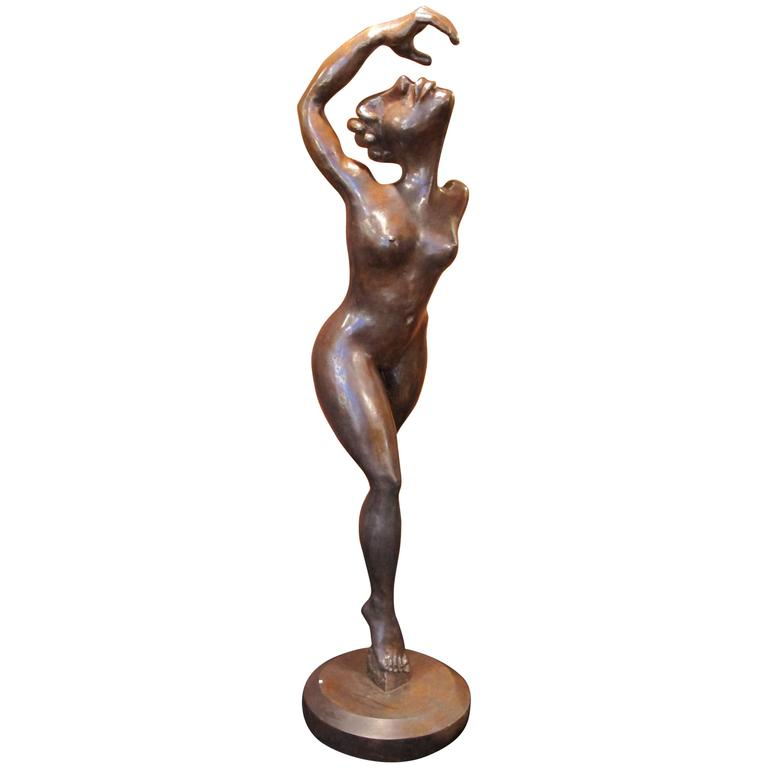 "Bronze Sculpture ""Dancer"" by the Artist Jacques Tenenhaus"