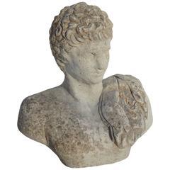 Stone Bust of Roman Man
