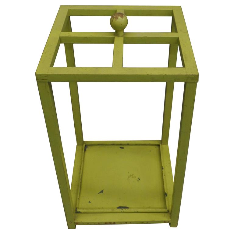 Early Modernist Umbrella Stand with Original Paint 1