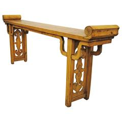 Antique Chinese Pearwood Altar Table, Late 19th Century