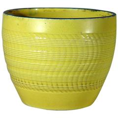 English Pottery Canary Yellow Pearlware Jardiniere