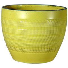 English Pottery Canary Yellow Pearlware Jardiniere
