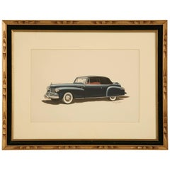 1942 Lincoln Continental Convertible Cabriolet Painting