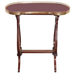 19th Century French Kidney-Shaped Side Table Stamped G Durand