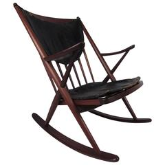 Midcentury Sculpted Rocking Chair