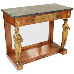 Empire Style Bronze-Mounted Console Table