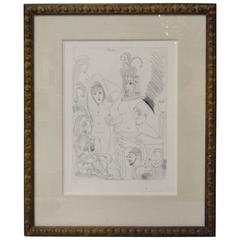 "Pablo Picasso Signed Etching, Plate #17 of the ""347"" Series. Numbered 43/50"