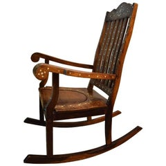 Moran-Style Rocking Chair Mother of Pearl Inlay