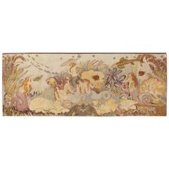 Circa 1914 Tapestry from Manzana Pissarro 'Sirenes et Poissons'