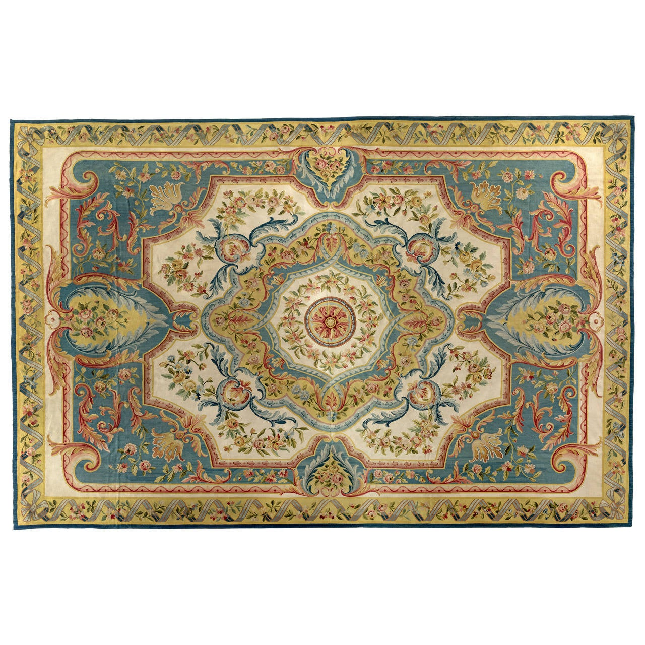 Louis Xvi Style French Aubusson Carpet Circa 1920 For
