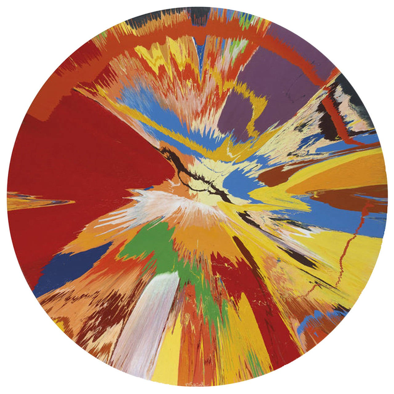 "Damien Hirst Carpet, Wool Wall Composition after His ""Spin"" of 1996 For Sale"