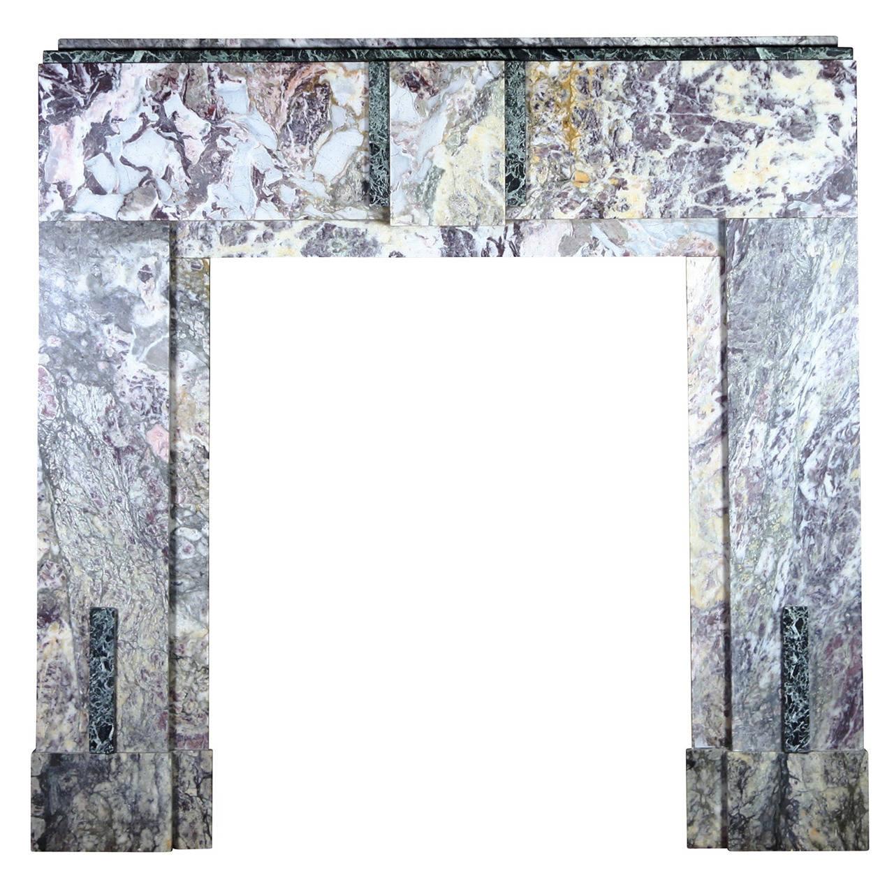 Art deco period fireplace mantel for Art deco period