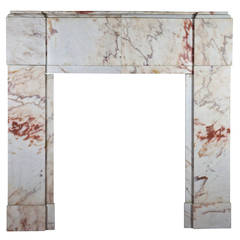 20th Century Art Deco Antique Fireplace Mantle in Marble